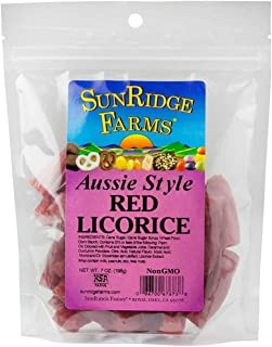 SunRidge Farms Aussie Style Red Licorice 7 Ounce Bag (Pack of 12)