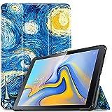 IVSO Hülle für Samsung Galaxy Tab A 10.5 SM-T590/T595, Slim Schutzhülle mit Auto Aufwachen/Schlaf Funktion Ideal Geeignet für Samsung Galaxy Tab A SM-T590/SM-T595 10.5 Zoll 2018, Sky