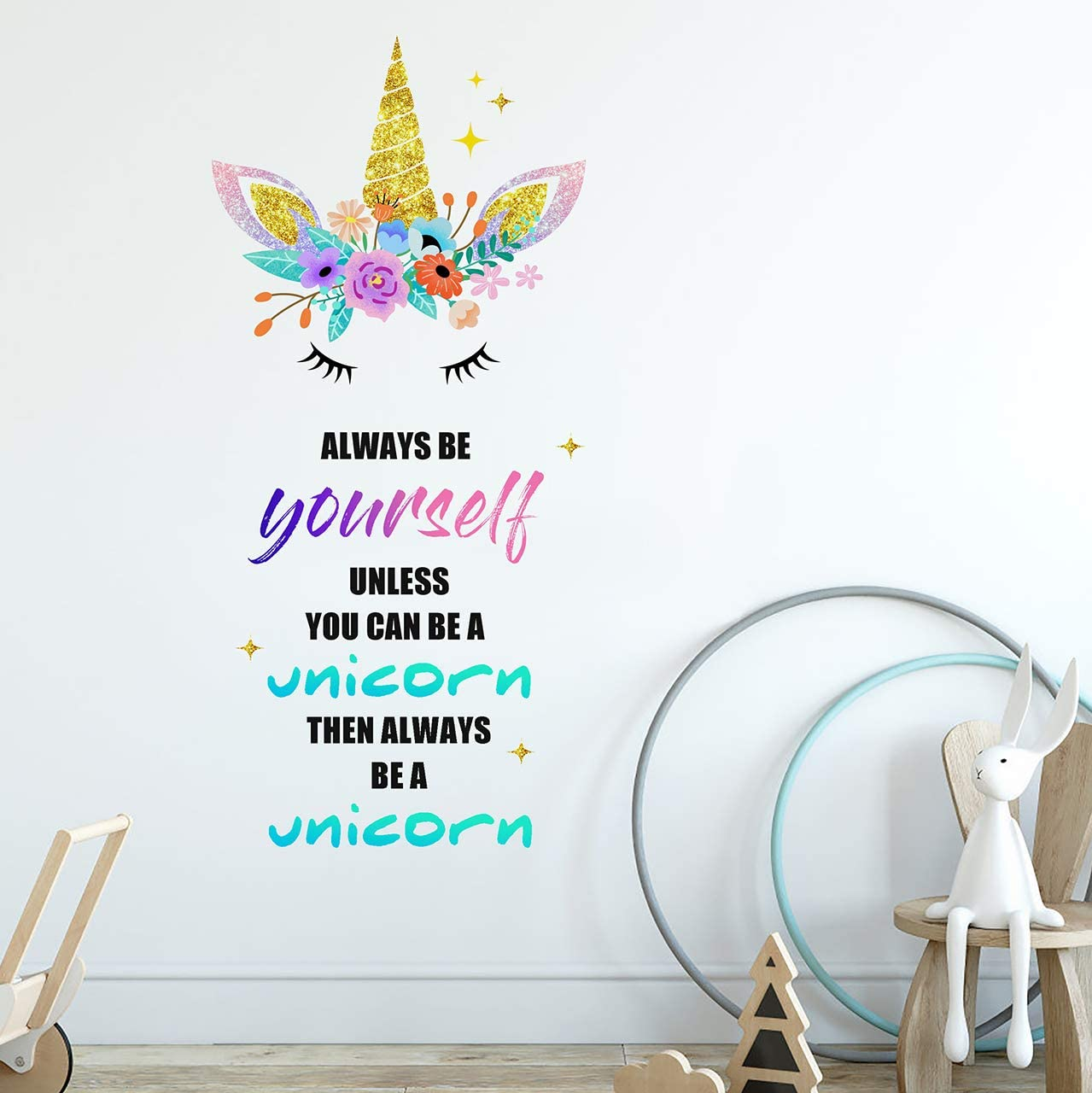 Sionoiur Unicorn Wall Decals Gifts Removable Decor A Very popular! Un Always Be
