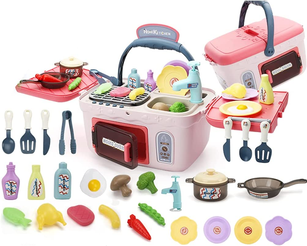 QSYY Children's Simulation Kitchen Austin Mall latest Toy Barbecue Color-Chang Set