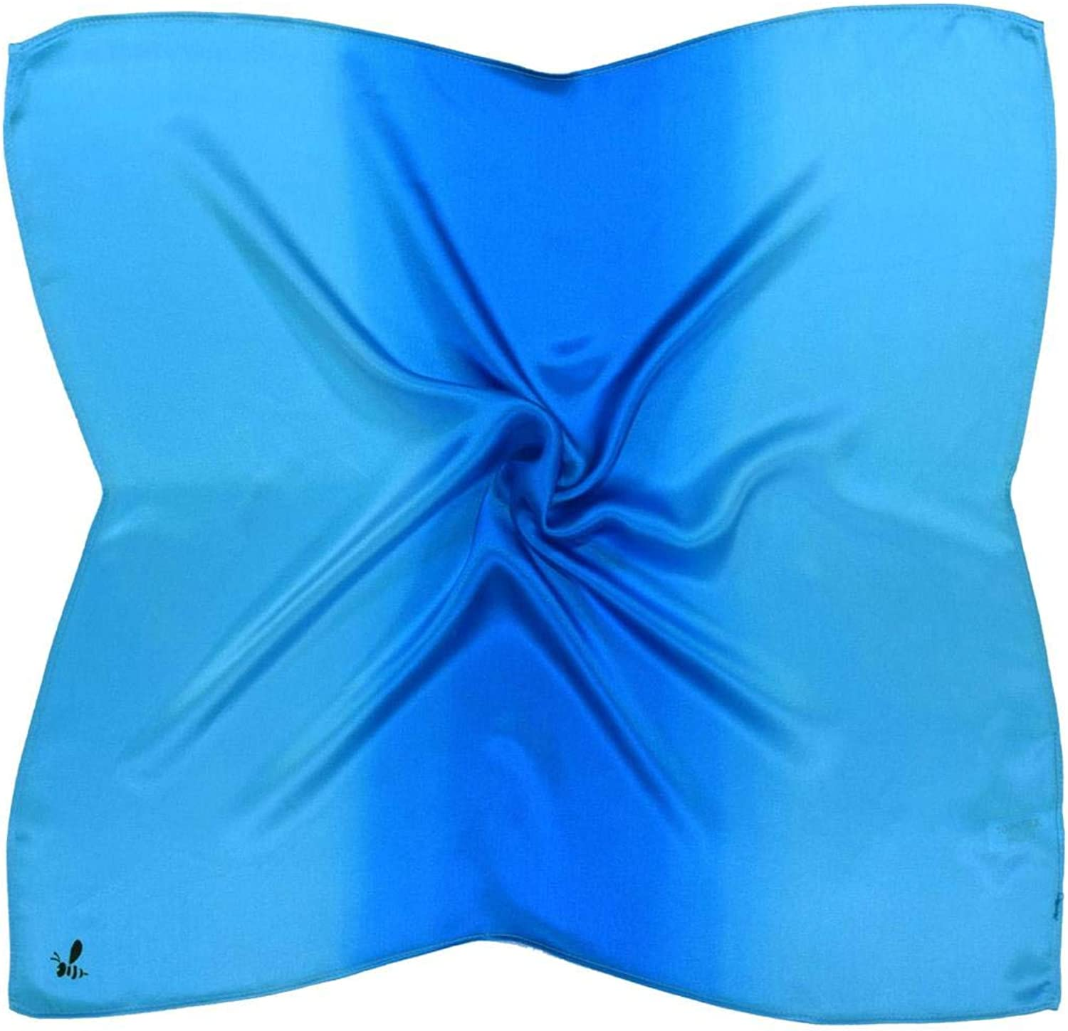bluee Thick Small Silk Square Scarf