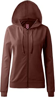 9add911d0 Regna X Round Neck Long Sleeve Full Zip Hoodies for Women (16, S-