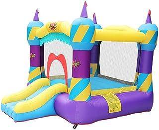 YBWEN Castillos hinchables Slide Juguete del pequeño trampolín Castillo Inflable al Aire Libre del Equipo del Juego Niños Niños Castillo Inflable (Color : Purple, Size : 280x215x205cm)