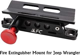 Adjustable Fire Extinguisher Holder Mount with 4 Clamps for Jeep Wrangler UTV Polaris RZR Ranger, Aluminum-1-year Warranty