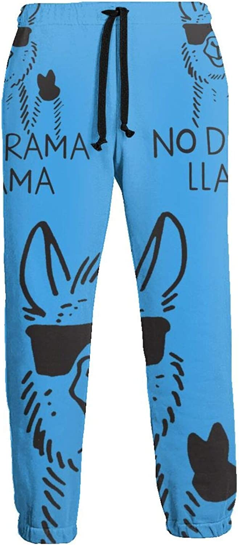 Mens No Drama Llama Athletic with Sweatpants Max 84% OFF Sport Pants Cheap sale Casual