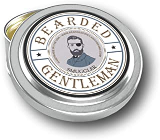 Bearded Gentleman Smuggler Men's Solid Cologne - Clove, Pepper, Nutmeg, and Vanilla - 1 oz - Natural Ingredients - Travel Sized Pocket Tin - Best Smelling Scent - Perfect Gift - Handmade in the USA