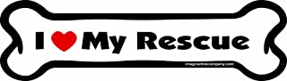 Imagine This I Love My Rescue Bone Car Magnet, 2-Inch by 7-Inch