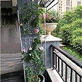 EDMKO Enrejado Metálico para Jardín Enrejado De Jardín para Plantas De Escalada, Paneles De Rejilla De Celosía De Alambre para Exterior Marco De Soporte De Planta Multifuncional,Blanco,75in