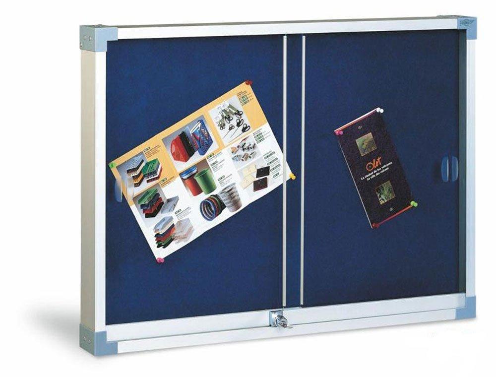Faibo 288516 - Vitrina de corcho tapizado con puerta corredera, 90 x 120 cm: Amazon.es: Oficina y papelería
