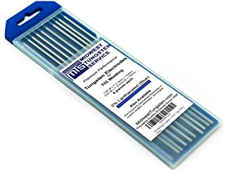 """Best TIG Welding Tungsten Electrodes 2% Lanthanated (Blue, WL20) 10-Pack (5pc 1/16"""" / 5pc 3/32"""") Reviews"""