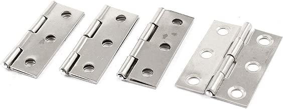 //® 100/mm x 16/mm acero inoxidable Hardware 360/Degree Bisagra pivotante para puertas Sourcingmap/