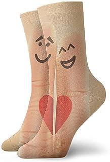 Creative Finger Lover Hombres Mujeres Calcetines cortos 30cm Algodón Calcetines clásicos para yoga Senderismo Ciclismo Correr Fútbol Deportes