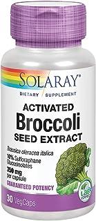 Solaray Activated Broccoli Seed Extract 350 mg | 10% Sulforaphane Glucosinolates for Antioxidant Support | 30 VegCaps