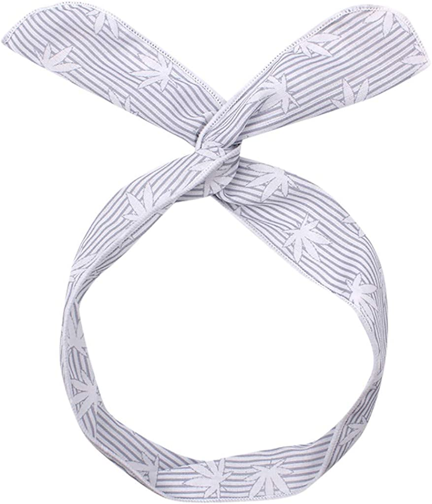 Sayhi Ms. Sweet Print Headband Cross Wire Hair Bandwidth Hair Accessories Wire Hair Holders for Women and Girls