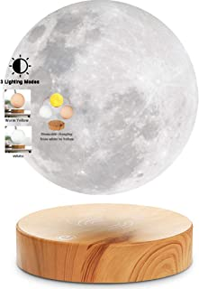 VGAzer Levitating Moon Lamp With Wood Base and 3D Printing Technology Floating and Spinning in mid-air Freely for Unique G...