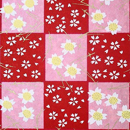 Yuzen - Papel de origami de Chiyogami de Yuzen, tamaño grande, diseño de flor de cerezo de Sakura, aproximadamente 630 mm x 945 mm