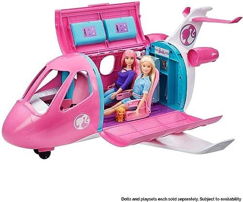 Barbie Mobilier l'Avion de Rêve pour poupées, avec mobilier, rangements et plus de 15 accessoires, jouet pour enfant,...