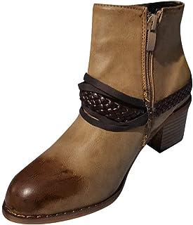 Bottine Femmes Talons - SANFASHION Chelsea Boots Bottes à Talons Hauts Femmes Elégantes Confortable Plat,Plate - SANFASHIO...