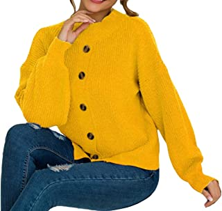 Women Cardigan Cable Knit Long Sleeve Button Down Chunky Sweater Coats
