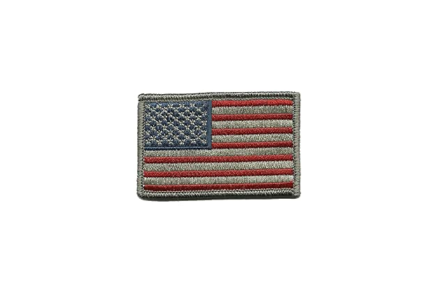 90166052d1b Tactical USA Flag Patch - Subdued Silver USA by Gadsden and Culpeper