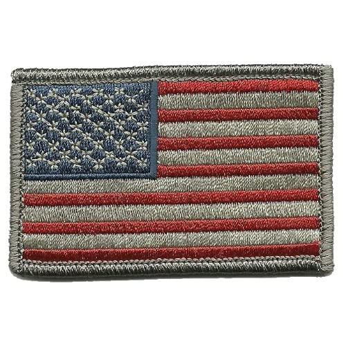 Amazon.com  Tactical USA Flag Patch - Subdued Silver USA by Gadsden and  Culpeper  Arts 6686a127787