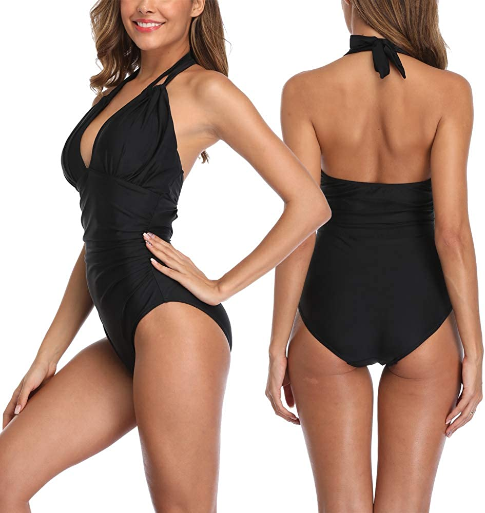 Strappy Tankini Sets f/ür Frauen Zweiteiliger Badeanzug Bikini mit Badeshorts Badeanzug
