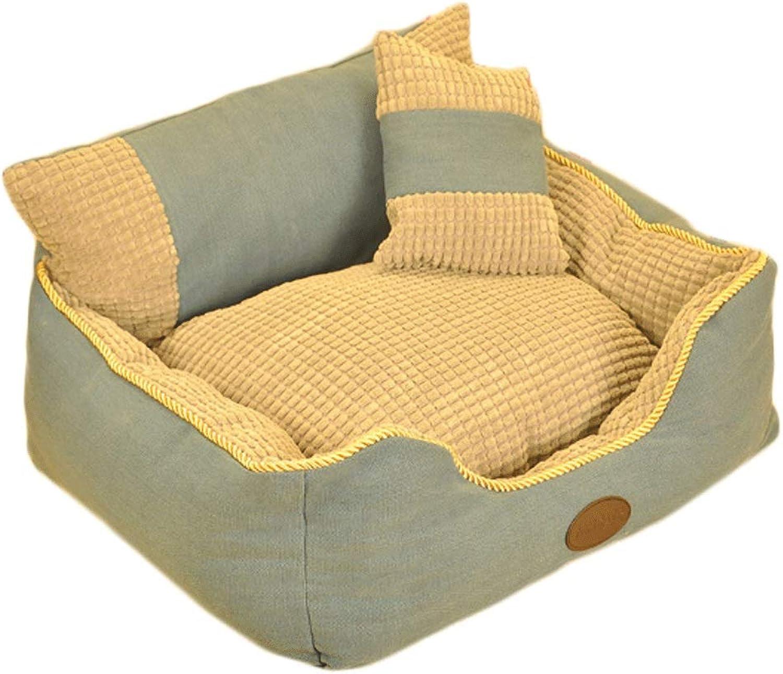 GJ Pet Nest Kennel Removable Dog Bed Warm Dog Supplies (color   PINK, Size   XXL (90  75  26cm))