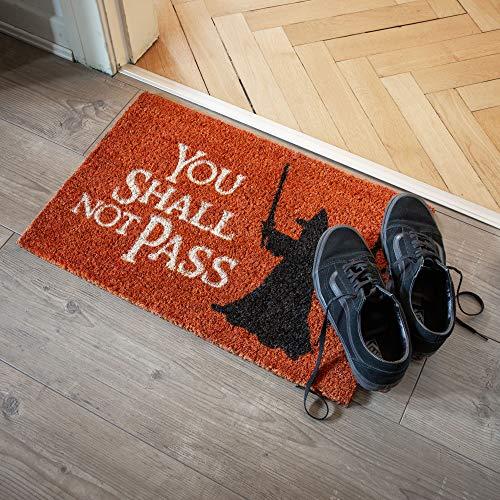 getDigital You Shall not Pass Fußmatte-Türmatte mit berühmter Fantasy-Szene, Großartiges Geschenke Für Film-fans