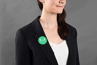 AVERY - Lot de 24 Badges Adhésifs Pré-Imprimés - Rond - Vert - Distanciation Sociale