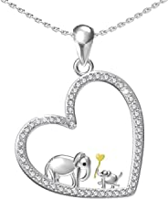 Mother Daughter Jewelry - 925 Sterling Silver Lucky Elephant Love In Heart Necklace Bracelet Ring Pendant For Women Girls