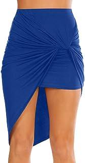 تنورة قصيرة مثيرة للنساء ضيقة بخصر مرتفع بوهو عالية ومنخفضة من الدرجة الصيفية. الشاطئ، المكتب، ملابس النادي، موعد الليل