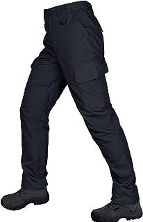 DrawingIQ Men's Tactical Pants Water Resistant Outdoor Elastic Waist Work Cargo Pants