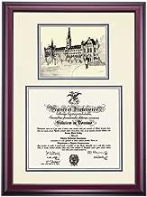 OCM Georgetown Hoyas Diploma Frame Ivory Blue Gray Matting Pen & Ink