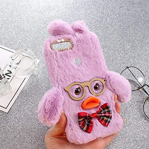 ZYQ 3D Duck Style Funda Caso TPU Silicona Case para Lenovo K5 Play Gel Shell Carcasa Proteccion Cover Etui Violet