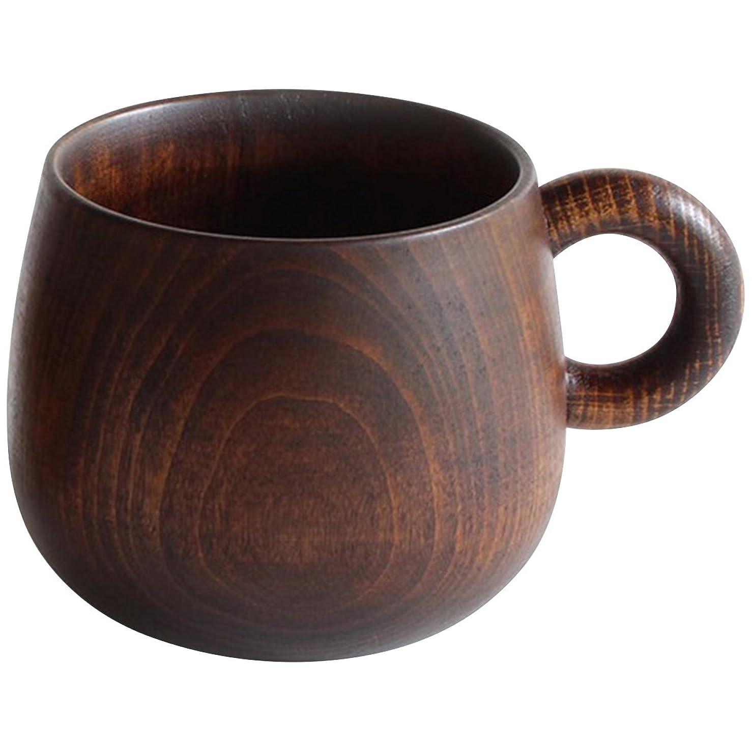 航空便使い込むバルコニーシェーヌ?ドゥ マグカップ トチの木をくりぬいたマグカップ 毎日の食卓に天然素材の心地よさを感じて心で喜んでもらう日本の安心の木製品 Oak Village/オークヴィレッジ
