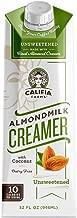 Califia Farms Unsweetened Almondmilk Coffee Creamer with Coconut Cream, 32 Oz (Pack of 6)   Dairy Free   Whole30   Keto   Vegan  Plant Based   Nut Milk   Non-GMO