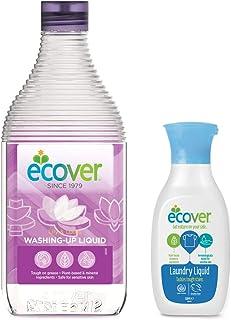 エコベール 食器用洗剤 リリー&ロータス 450mL 洗濯用洗剤ミニボトル付き