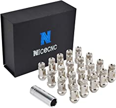 Nicecnc 20PCS 12x1.5MM T304 Stainless Steel Anti-Rust Corrosion Wheel Lug Nuts & Tool Replace T-OYOTA L-EXUS A-cura H-onda JDM,F-ord Fusion F-ocus Escape,M-azda 3 5 6 MX-5 Protege RX-8