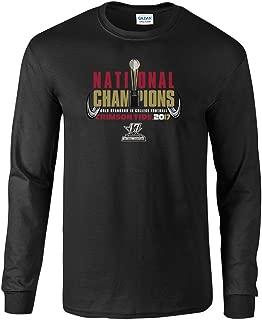 Alabama Crimson Tide National Champs Long Sleeve Tshirt Black Trophy (2017 National Championship)