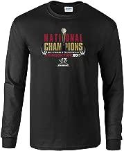 Elite Fan Shop Alabama Crimson Tide National Champs Long Sleeve Tshirt Black Trophy (2017 National Championship)