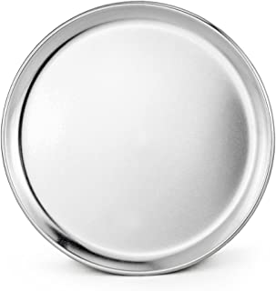 New Star Foodservice 51018 Pizza Pan/Tray, Coupe Style, Aluminum, 10 inch, Pack of 6