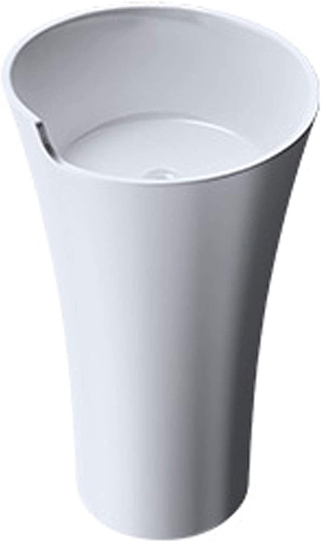 Sogood DxH 52 3x90 cm Design Standwaschbecken Colossum30 aus Gussmarmor Waschtisch Waschplatz Standsule