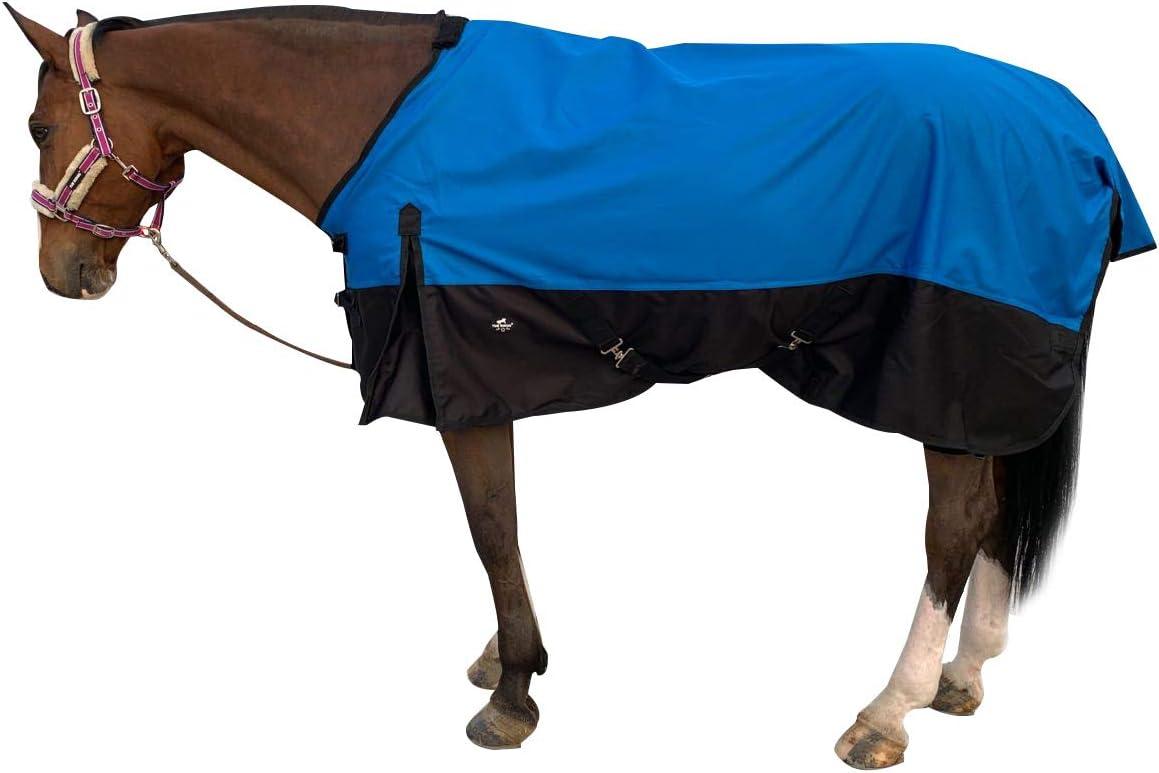 TGW RIDING Comfitec Essential Standard Neck Lite Horse Turnout Sheet 1200D Waterproof and Breathable Horse Rain Sheet 74, Blue
