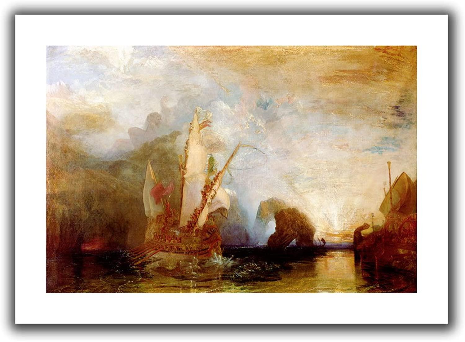 Art Wall 'Ulysses Deriding Polyphemus' Flat Unwrapped Canvas Art by William Turner, 20 by 28Inch