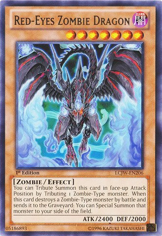 YU-GI-OH! - Red-Eyes Zombie Dragon (LCJW-EN206) - Legendary Collection 4: Joey's World - 1st Edition - Rare