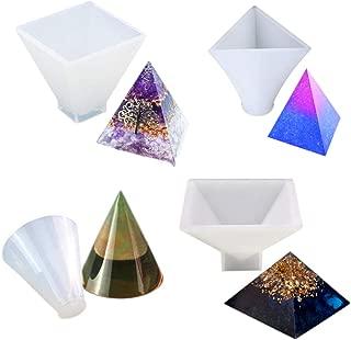 Show Molde para Manualidades Colgante de Resina Show Regard Natral Molde de Silicona para Hacer Conos de Diamante