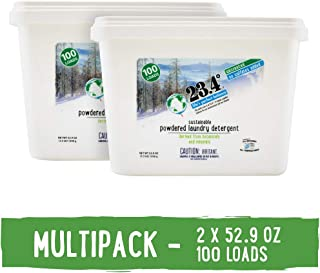 23.4° Life's perfect balance Powdered Laundry Detergent Unscented Pail, 2 Units, 6.6 Pound