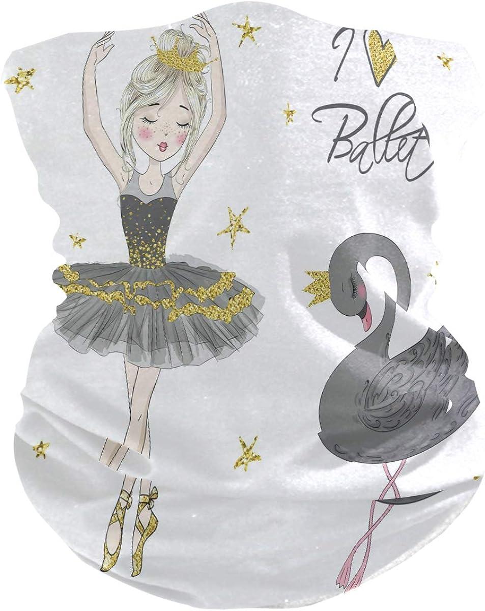 ALAZA Beautiful Lovely Ballerina Girl Swan Headwear Magic Scarf Headband Bandana Outdoor Sports for Women Men