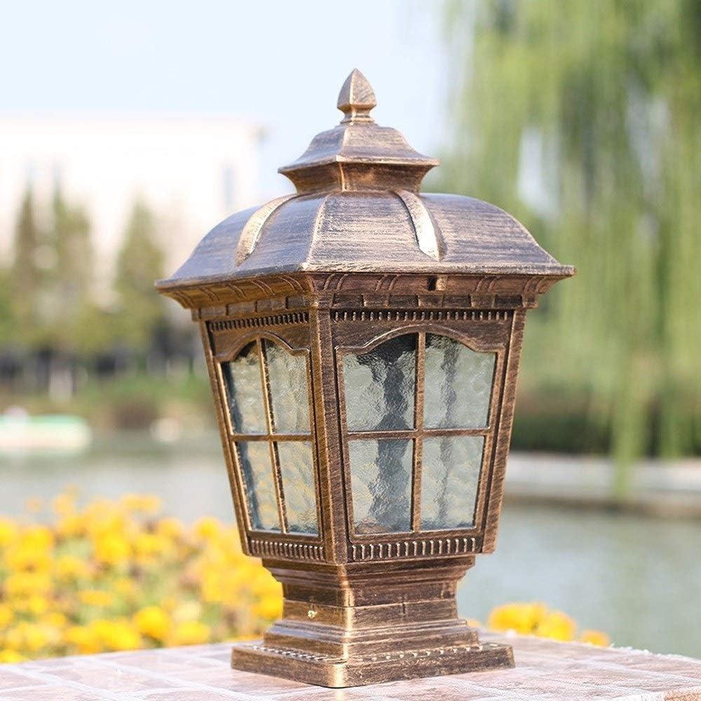 ZZYJYALG Outdoor Antique Bronze Max 81% excellence OFF Door 45cm Tradition Post Lantern