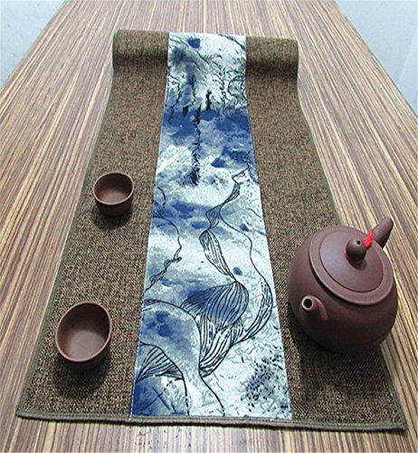 Sucastle® 35x340cm tissu Chemin de Table Cuisine Imperméable Décoration en Aspect naturel